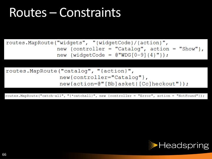 Routes – Constraints