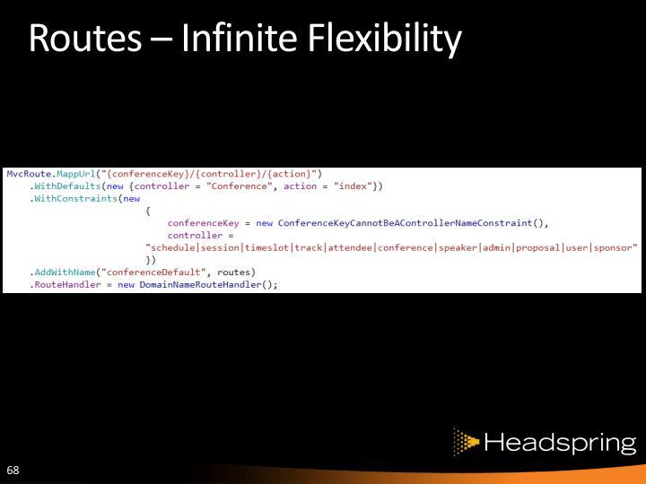 Routes – Infinite Flexibility