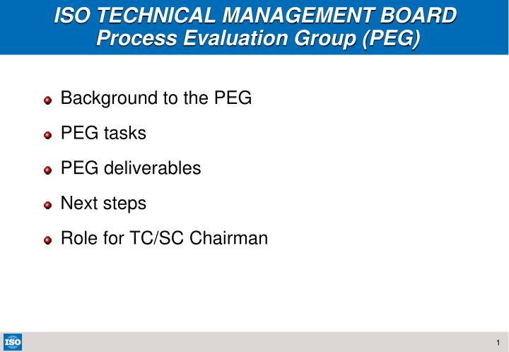 iso technical management board process evaluation group peg n.