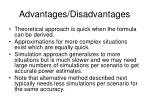 advantages disadvantages