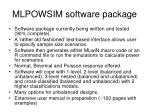 mlpowsim software package