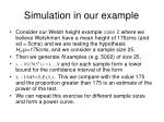simulation in our example
