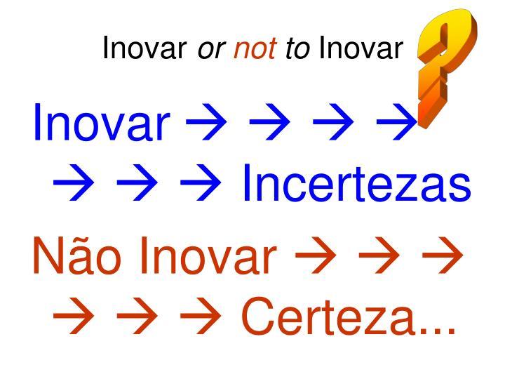 Inovar or not to inovar