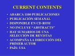 current contents