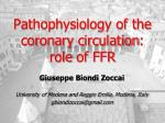 pathophysiology of the coronary circulation role of ffr