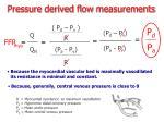 pressure derived flow measurements