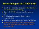 shortcomings of the cure trial