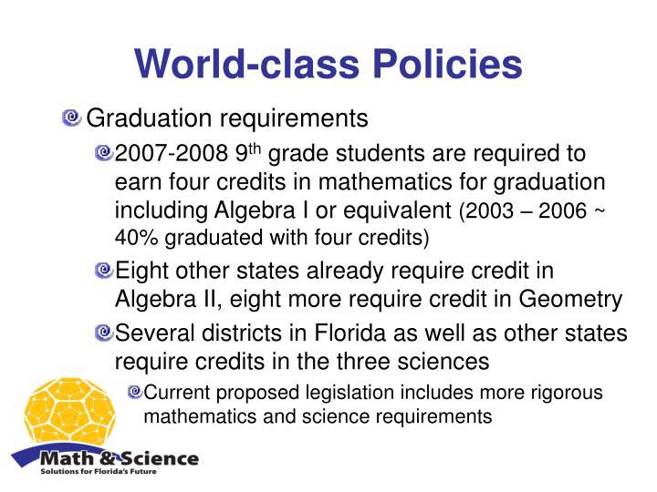 World-class Policies