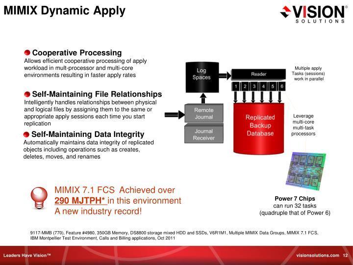 MIMIX Dynamic Apply