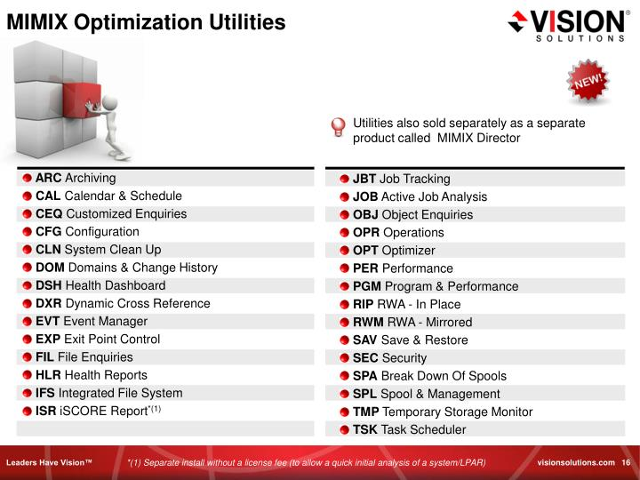 MIMIX Optimization