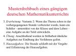 musterdrehbuch eines g ngigen deutschen mathematikunterrichts1