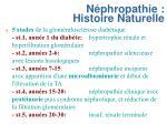 n phropathie histoire naturelle