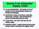 issues in an integrated supply chain