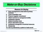 make or buy decisions1