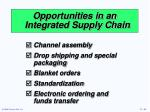 opportunities in an integrated supply chain1