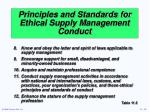 principles and standards for ethical supply management conduct2
