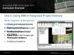 unit 5 using bim in integrated project delivery