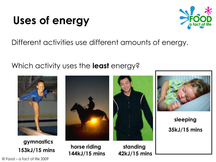 Uses of energy