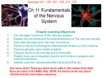 ch 11 fundamentals of the nervous system
