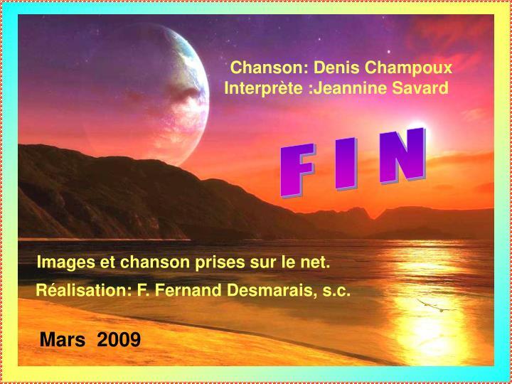 Chanson: Denis Champoux
