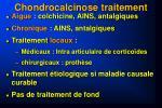 chondrocalcinose traitement