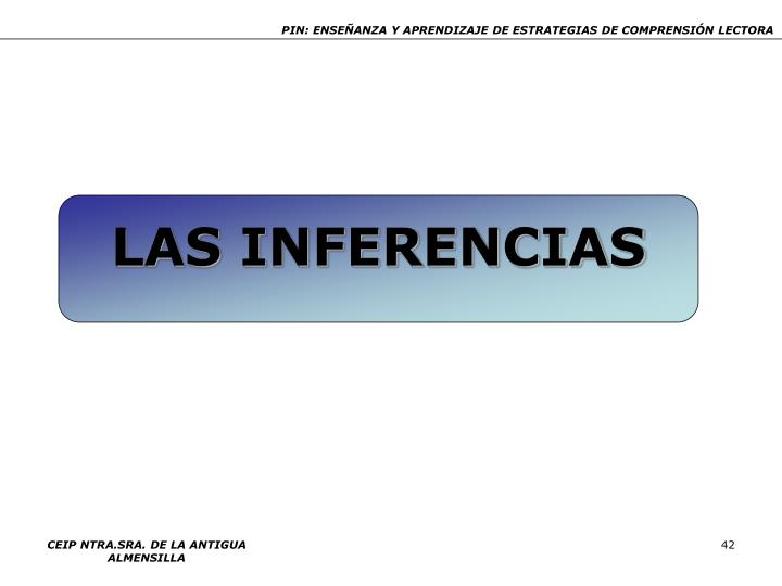 LAS INFERENCIAS