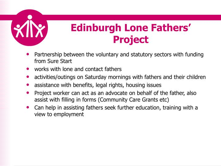 Edinburgh lone fathers project