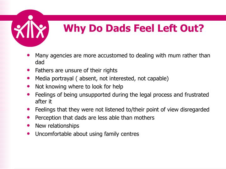 Why do dads feel left out