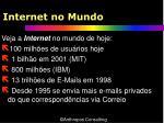 internet no mundo