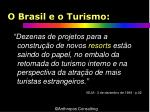 o brasil e o turismo