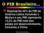 o pib brasileiro