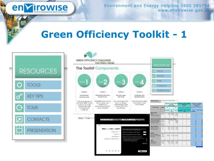 Green Officiency Toolkit - 1