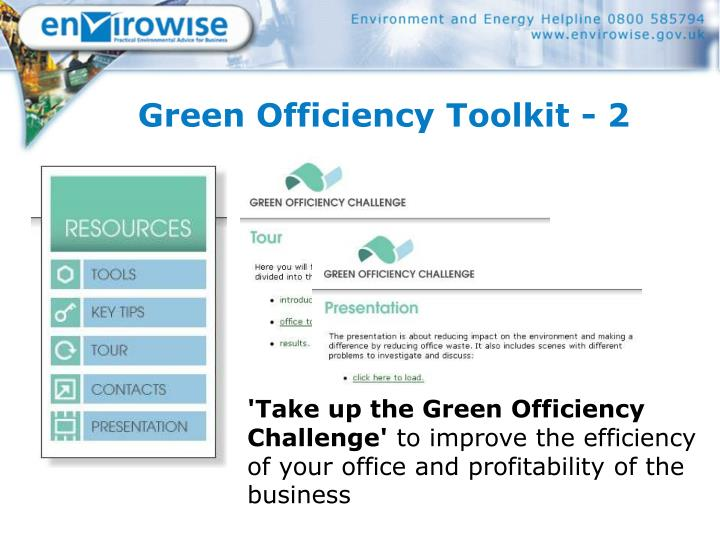 Green Officiency Toolkit - 2