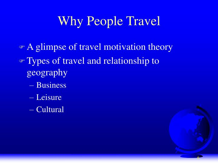 Why People Travel