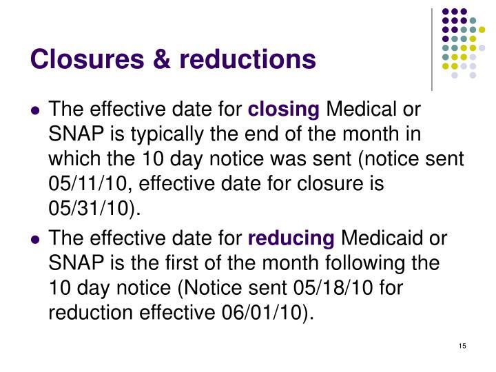 Closures & reductions