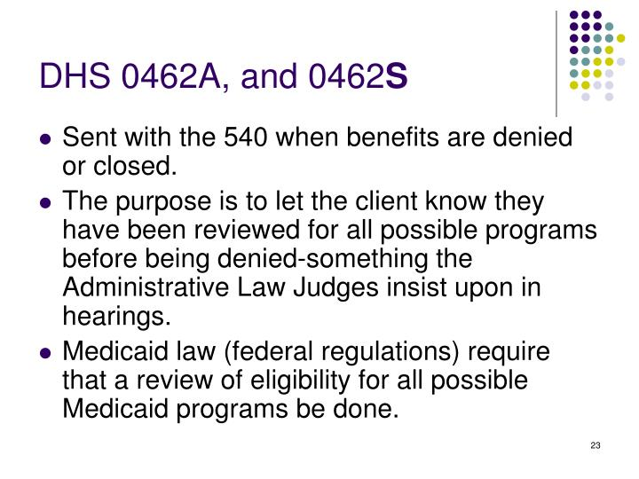 DHS 0462A, and 0462