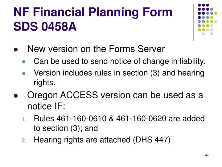 NF Financial Planning Form
