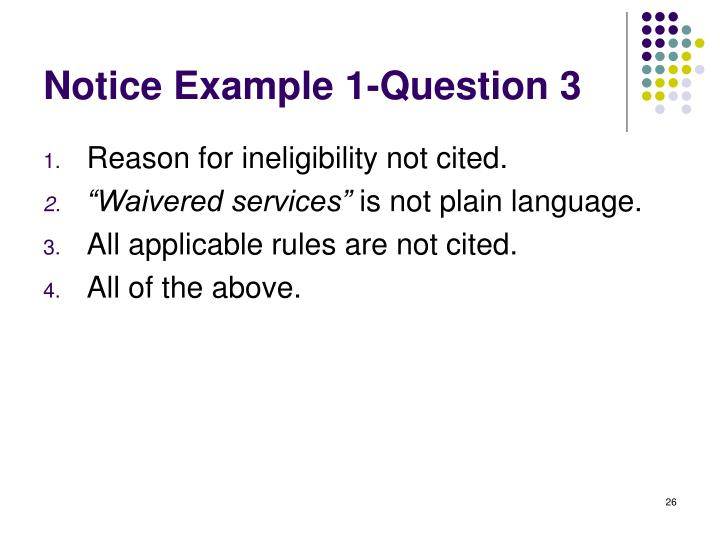 Notice Example 1-Question 3