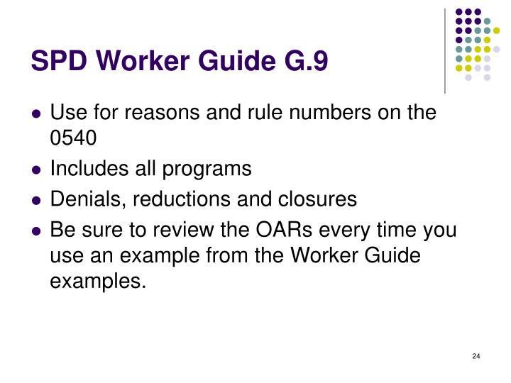 SPD Worker Guide G.9