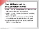 how widespread is sexual harassment