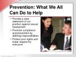 prevention what we all can do to help