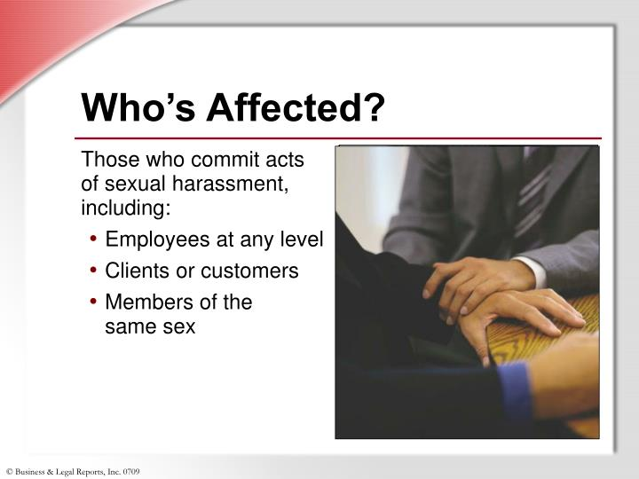 Who's Affected?