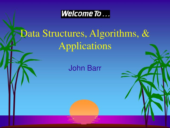 data structures algorithms applications n.
