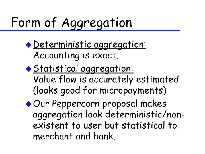 Form of Aggregation