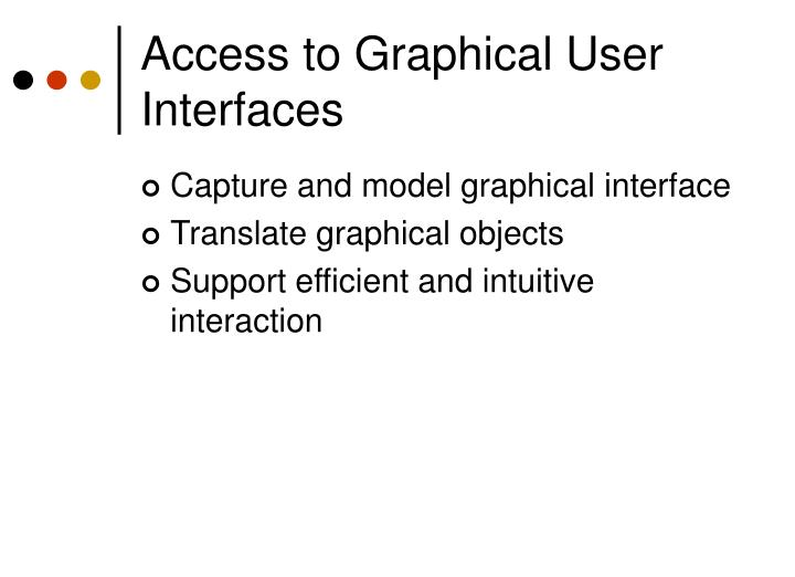 Access to Graphical User Interfaces