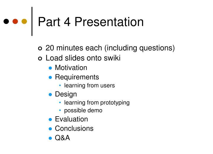 Part 4 presentation
