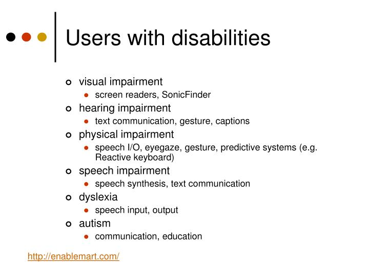 Users with disabilities