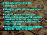 debt education credit counselors