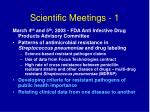 scientific meetings 1