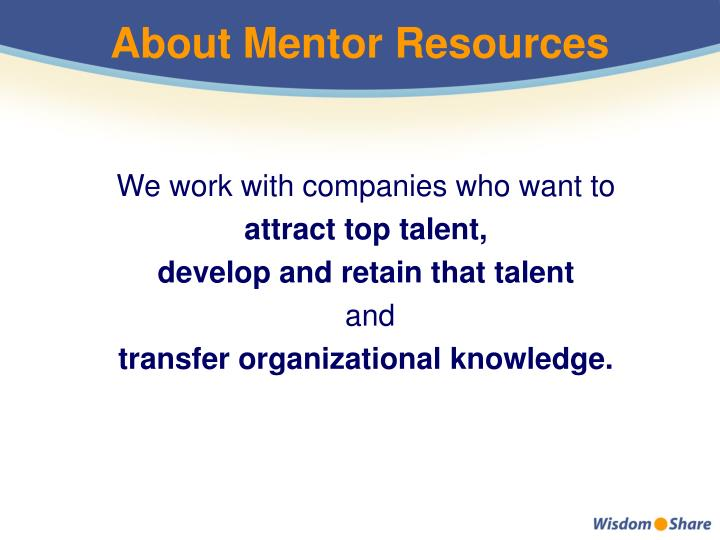 About Mentor Resources
